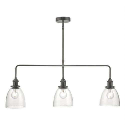 Arvin 3lt Bar Pendant Antique Chrome & Glass (double insulated) BXARV0361-17